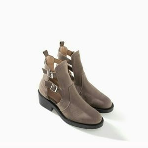 Zara Boots - Zara Leather Ankle Boots