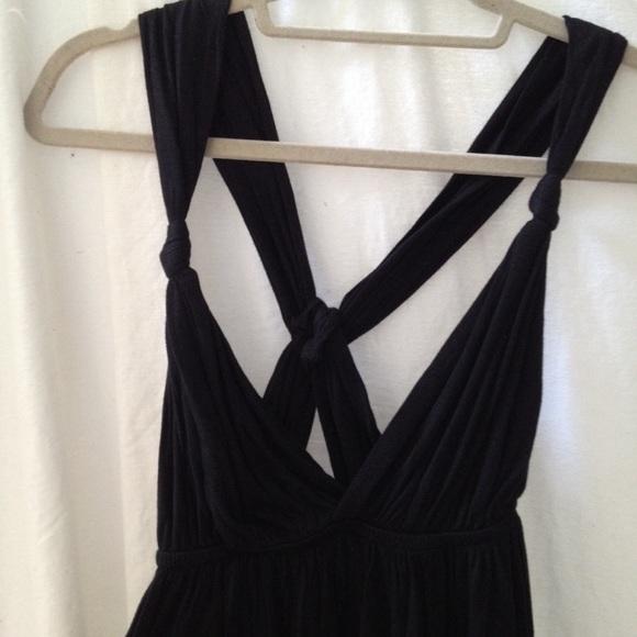 5263109308 H&M Dresses | Hm Black Cotton Maxi Dress | Poshmark