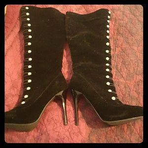 Shoe dazzle Zip Up Knee High Boots