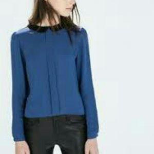 Zara collar blouse
