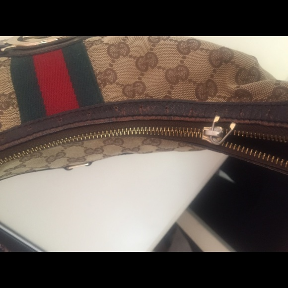 87% off Gucci Handbags - Gucci Bag with green & red stripe ...