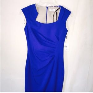 05c050bf Calvin Klein Dresses - CK Blue 'Petite' cap sleeve/ ruched for @jiaekmre