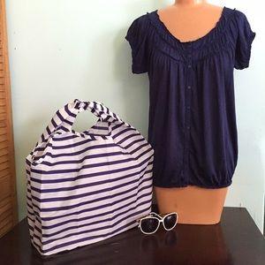 Gap navy blue blouse