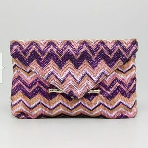 SAVY ELAINE TURNER METALLIC CLUTCH