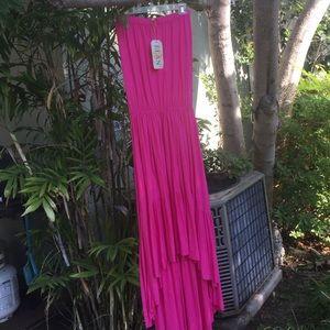 Elan Dresses & Skirts - NWT!!! Elean hot pink strapless maxi dress-M