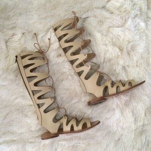 Topshop Shoes - Topshop Knee High Lace Up Gladiator Sandals 37