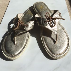 Sperry Top-Sider Shoes - Sperry Top-Sider Saybrook Platinum Gold Sandals