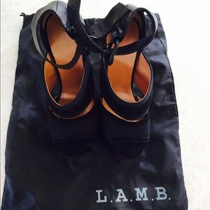 L.A.M.B. Shoes - LAMB platform burnout sandals