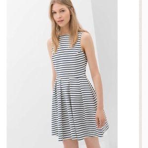 Zara Backless Striped Dress