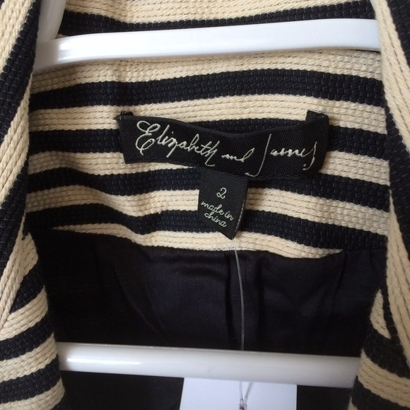Elizabeth and James Jackets & Coats - Elizabeth and James Preppy Striped Blazer
