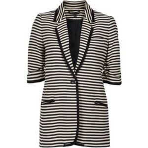 Elizabeth and James Jackets & Coats - Elizabeth and James Preppy Striped Blazer