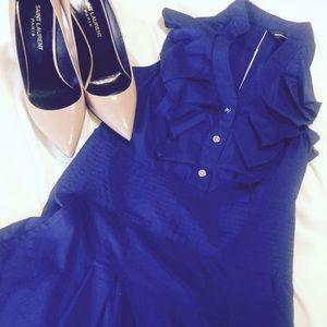 Express Ruffle Front Dress