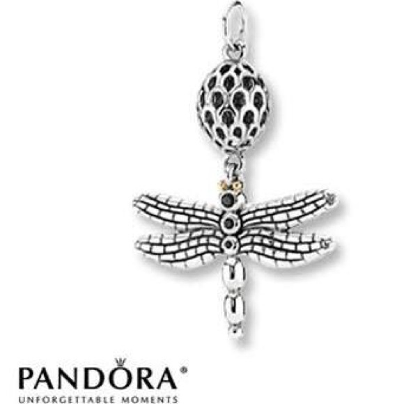 Pandora Jewelry Dragonfly Pendant With Necklace Poshmark