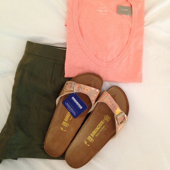NWT Birkenstock Madrid Rose Gold 36 Sandals Mirror NWT