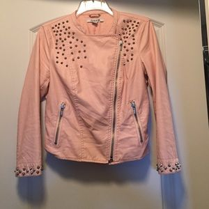 Forever 21 peach faux-leather size M
