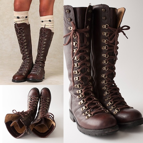 b39984ce42a Frye Rogan Tall Lace-up/Zip-up leather boots