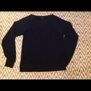 J. Crew Tops - 🆕 J. Crew black baseball style sweater