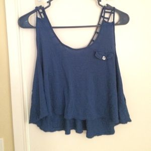 Royal blue crop top tank