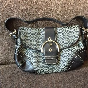 Authentic black and grey Coach purse