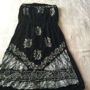 Black halter too dress