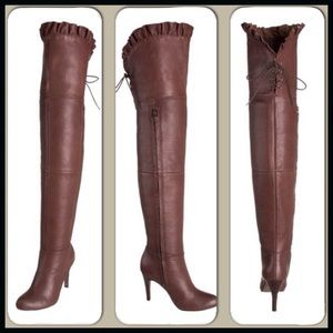 Report Shoes - Report Over-the-Knee Ruffle Boot