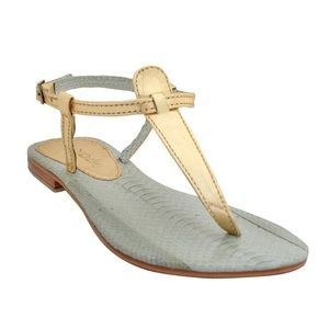 Cocobelle Shoes - Cocobelle Sophie Metallic Gold Thong Sandal