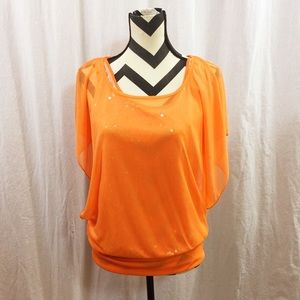 Idk Tops - Sequence orange top