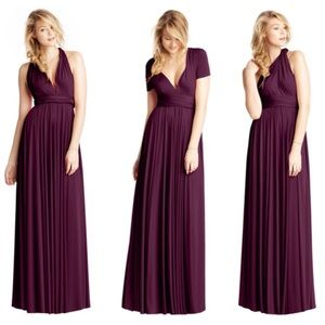 TwoBirds Dresses & Skirts - NWOT Two Birds Bridesmaid Gown Aubergine