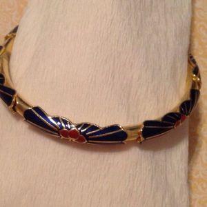 Gold Toned Decorative Bangle Bracelet