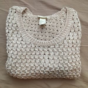 H&M Conscious beige/gold knit Sweater