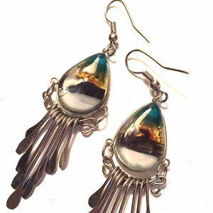 Jewelry - Beachy glass earrings