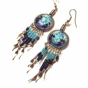 Jewelry - Woven dreamcatcher earrings