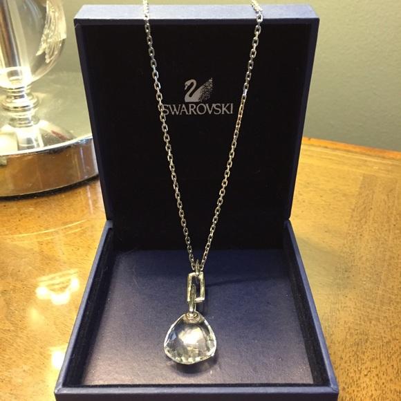 65 off swarovski jewelry swarovski crystal pendant necklace swarovski crystal pendant necklace mini parallele aloadofball Choice Image