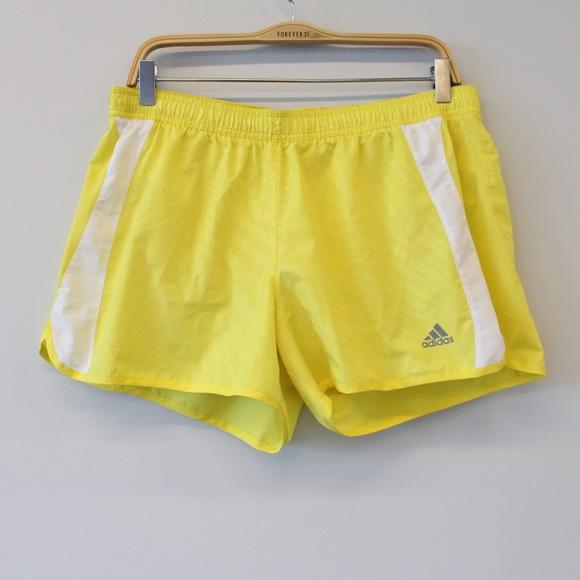 adidas shorts yellow
