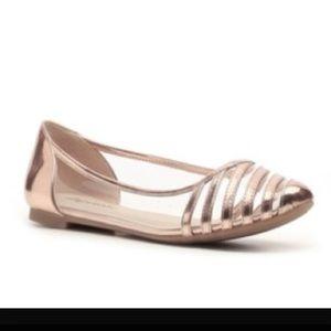 "Zigi Soho Shoes - Zigi Soho ""clarity"" flats in rose gold"