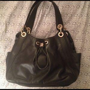 Michael Kors Handbags - Black Leather Michael Kors Handbag