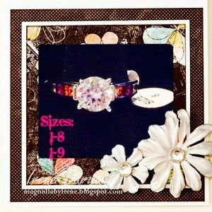 Unknown Jewelry - Brand 🆕 Elegant Round Cut White Multicolor Ring