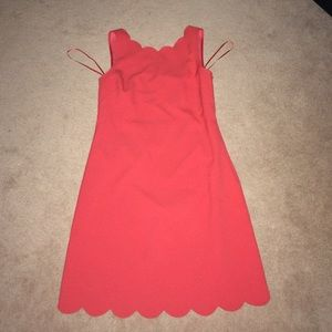 JCREW scallop shift dress