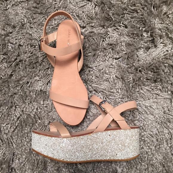 platform sandals sparkly