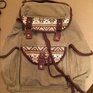 American Rag Handbags - AMERICAN RAG CANVAS BACKPACK