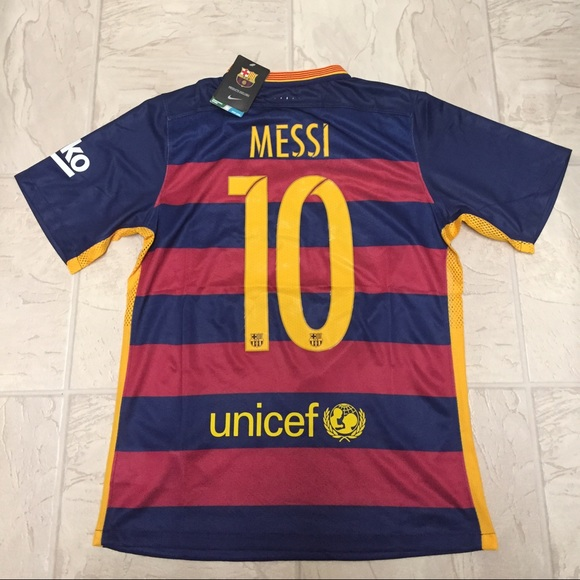 sports shoes 69c77 63334 2015/2016 Barcelona home Messi jersey NWT