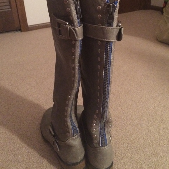 38% off Mossimo Supply Co. Boots - Grey riding boots from ...