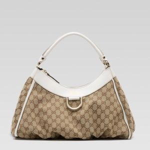 Gucci d gold large hobo bag