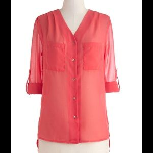NWT MODCLOTH TOP BLOUSE
