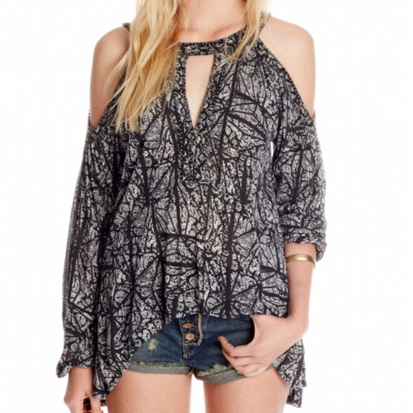 2d01a5ca1c83c8 Free People Good Morning Cold Shoulder
