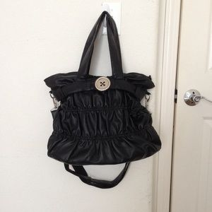 Black Tote Shoulder Bag