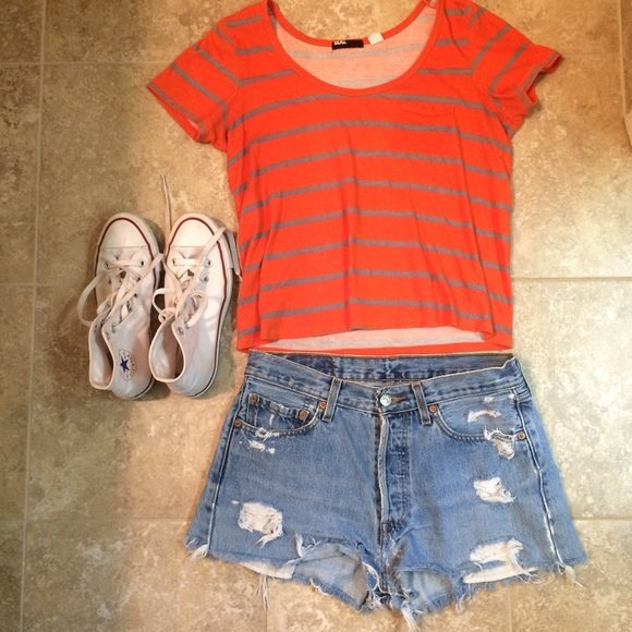 Urban Outfitters Tops - BDG Striped Crop Tee