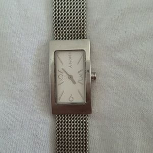 Reduced!!!DKNY silver chain link watch