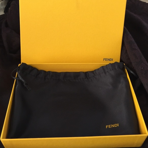 FENDI Accessories - Fendi wallet box and dust bag authentic f89bdebed336f