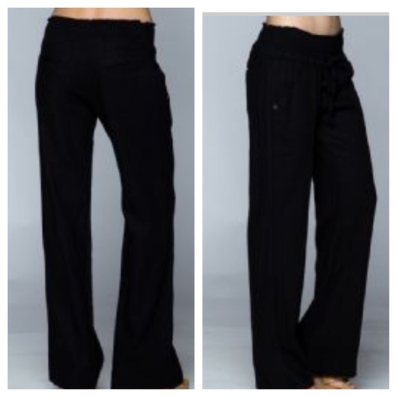 55% off Pants - Black linen pants from Evelyne's closet on Poshmark